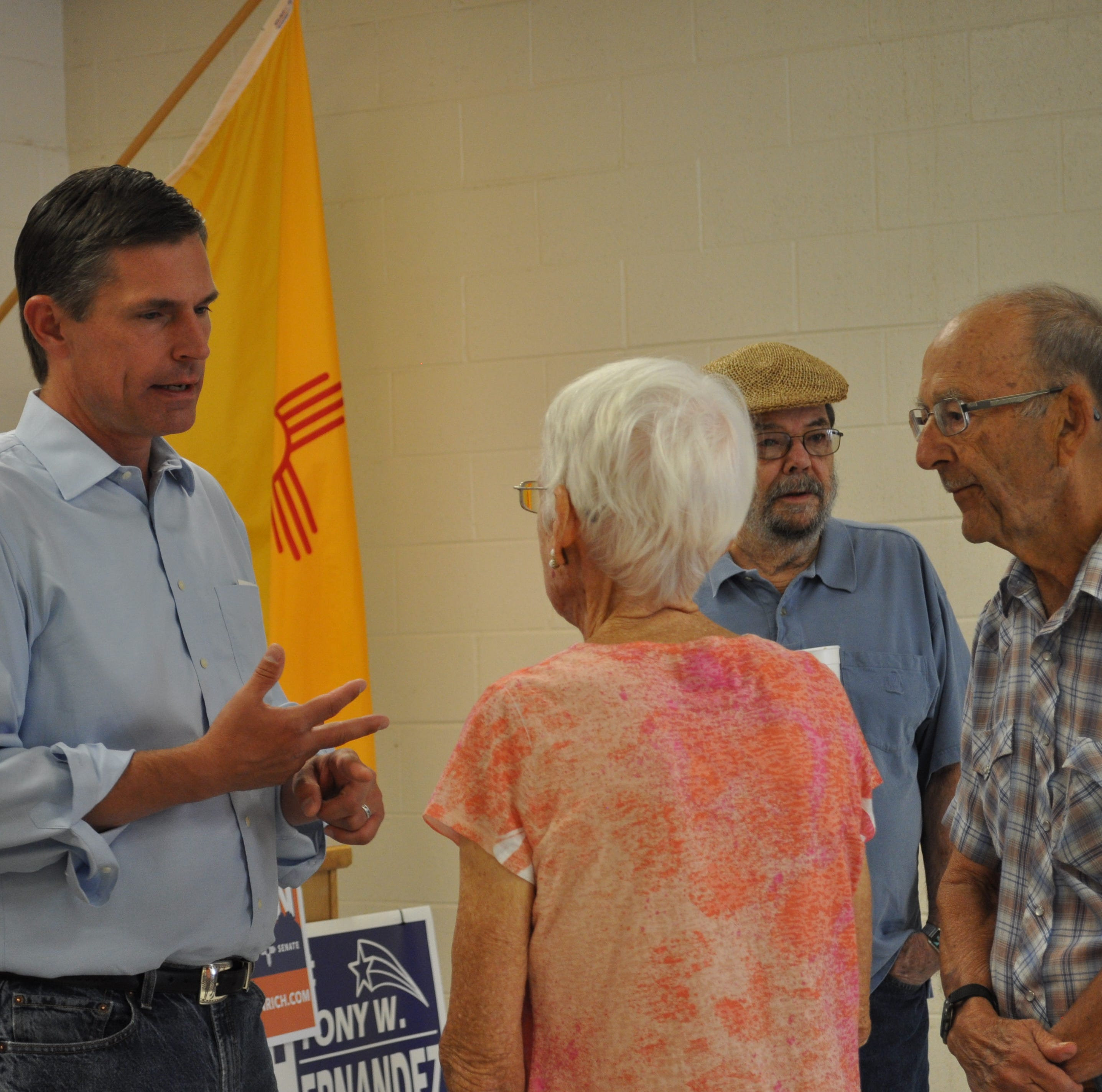 Heinrich, Lujan Gisham in Silver City for rally Saturday