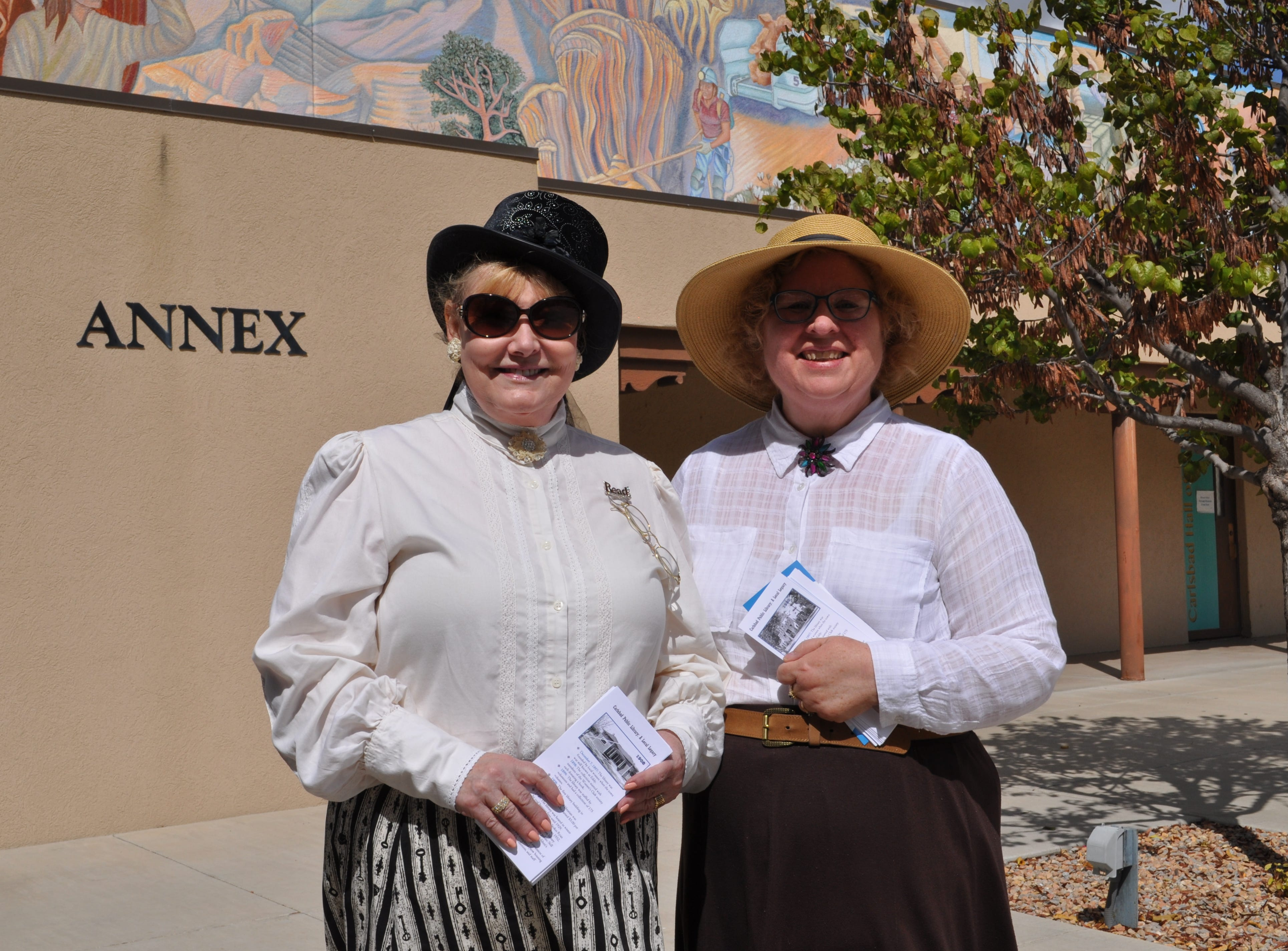 The ladies of the Carlsbad Public Library dressed up for the annual Heritage Fest on Sep. 15.