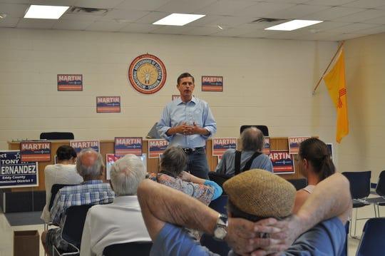 New Mexico's U.S. Senator Martin Heinrich on Sep. 15 at the IBEW Hall in Carlsbad.