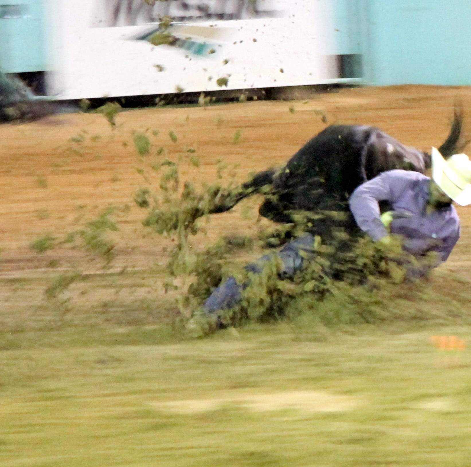 A display of youthful fans attend Friday's Western Week Rodeo show