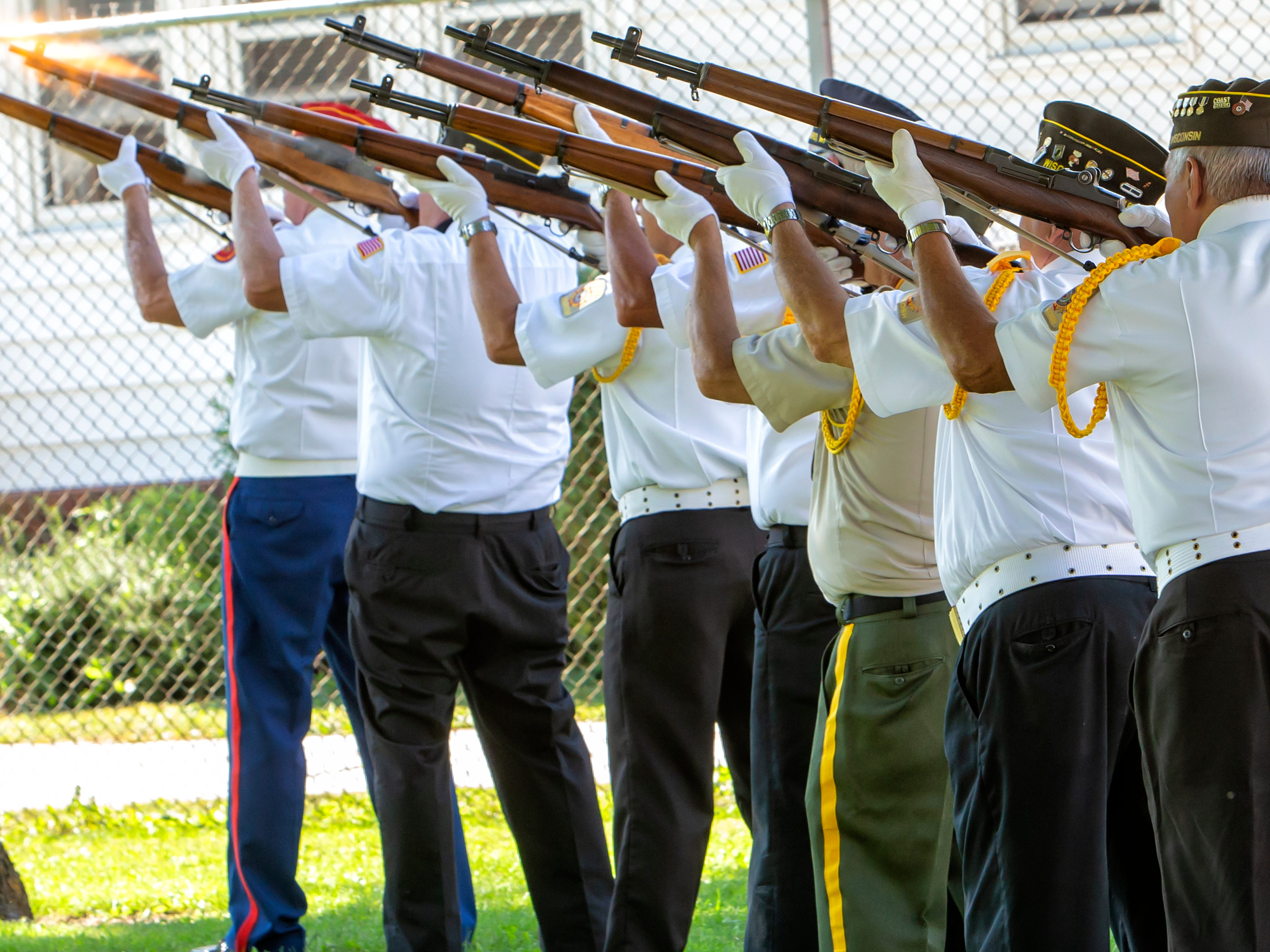 A rifle salute by area veterans took place during the annual POW MIA Remembrance Ceremony at South Park Veterans Memorial on Saturday, September 15, 2018.