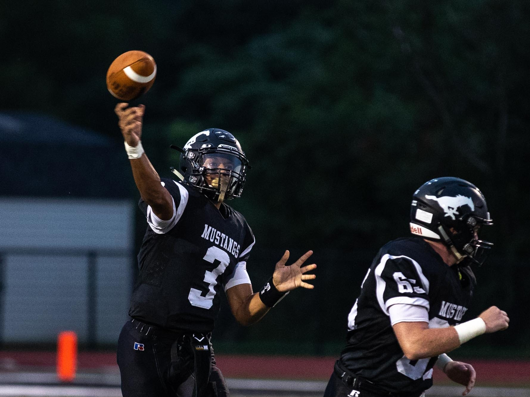 South Western's Jalen Bradford passes during a football game between South Western and Dallastown, Friday, Sept. 14, 2018, at South Western High School in Penn Township. Dallastown won, 35-7.