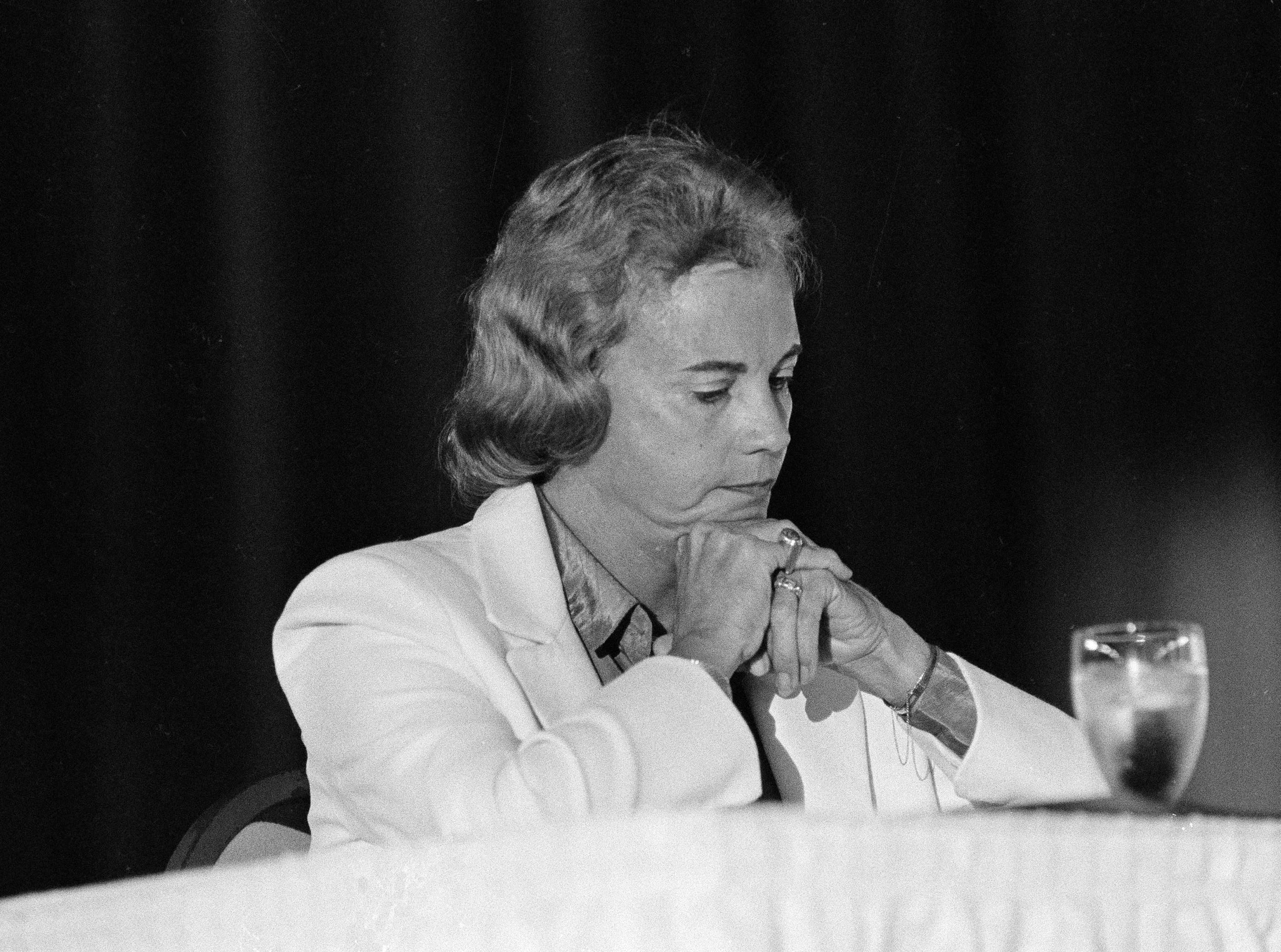 Supreme Court Justice Sandra Day O'Connor appears in New Orleans in Sept. 1982.