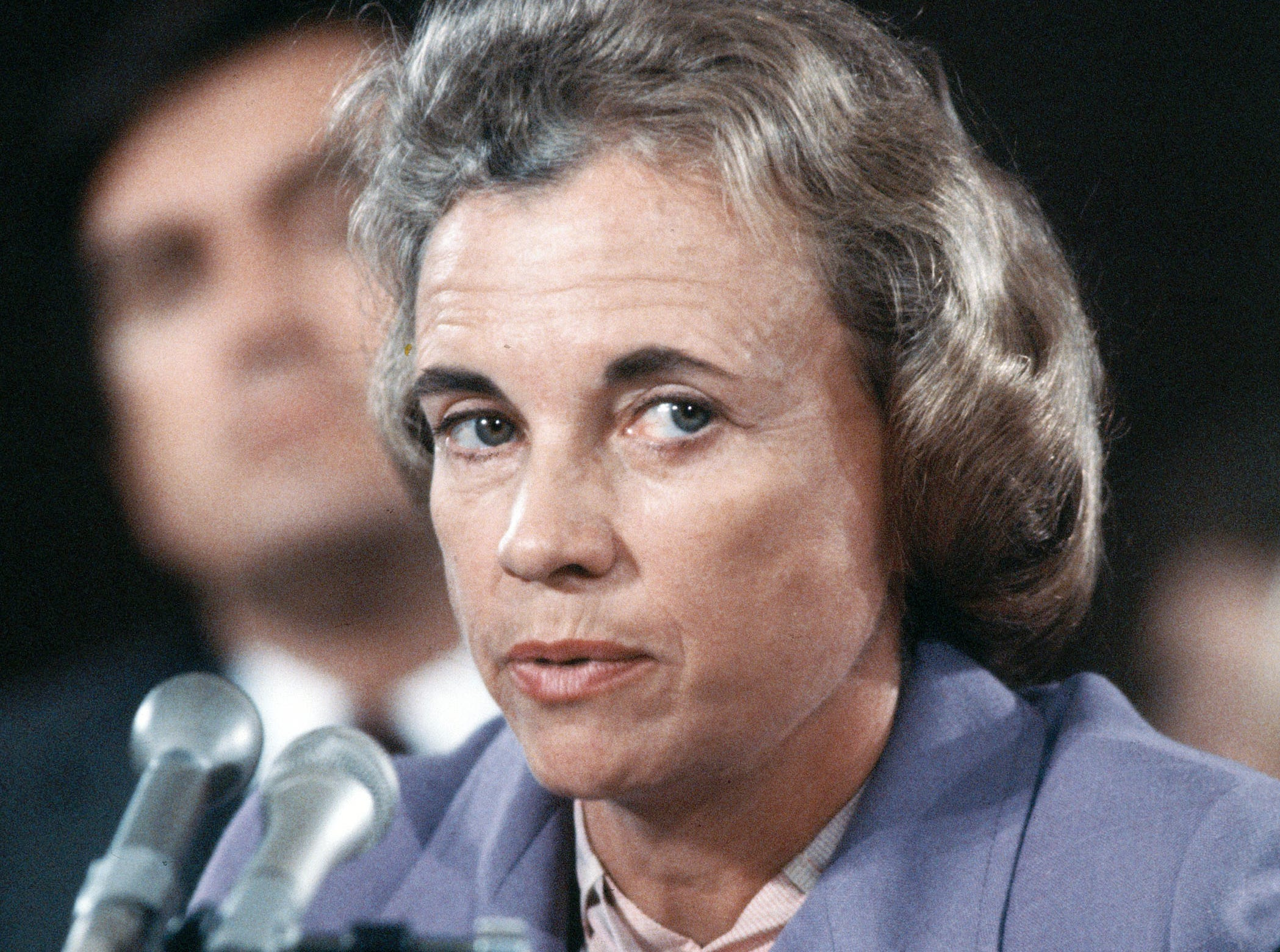 Supreme Court nominee Sandra Day O'Connor is shown during her confirmation hearings before the Senate Judiciary Committee, Sept. 9, 1981.