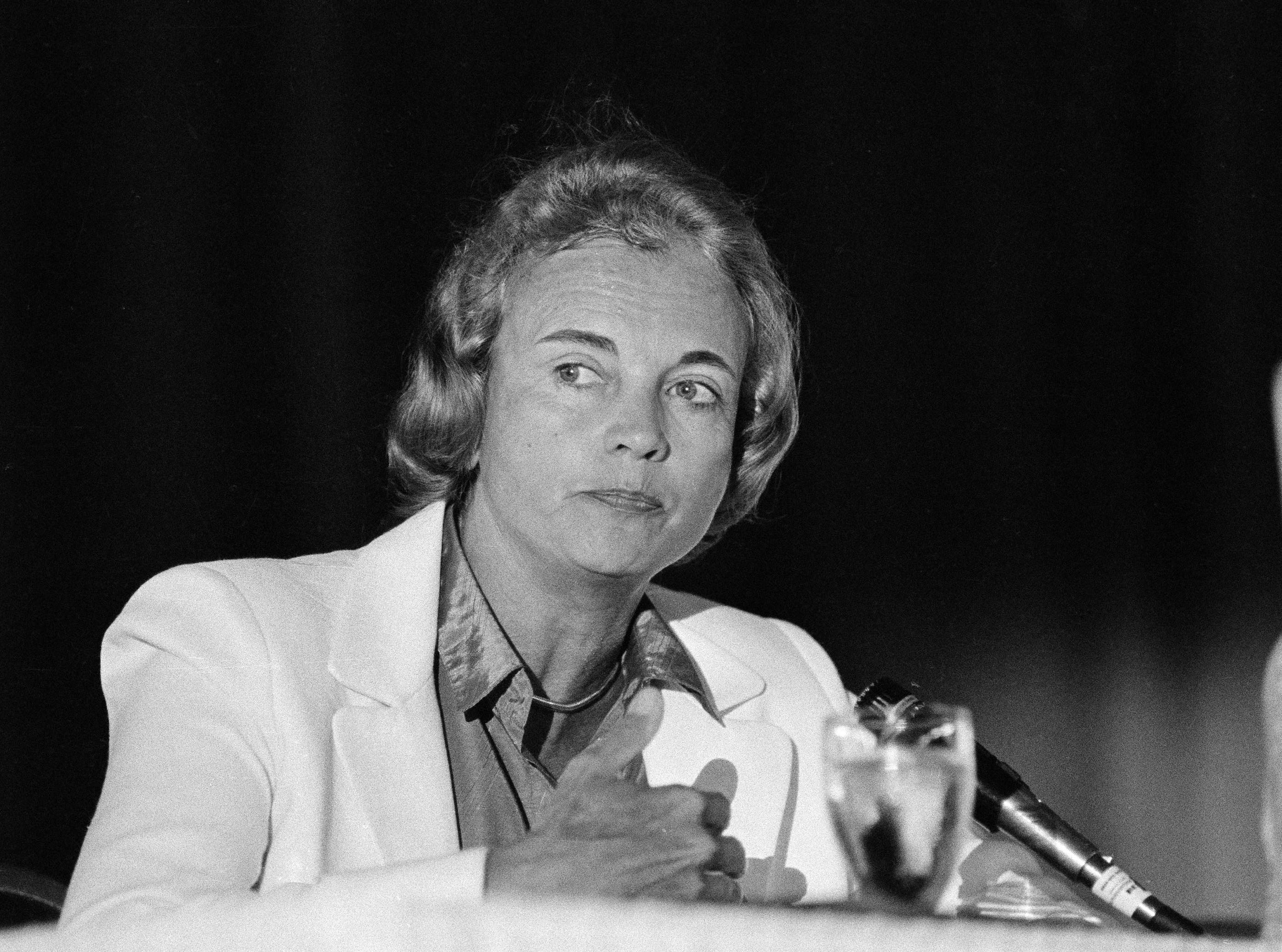 Supreme Court Justice Sandra Day O'Connor is seen in New Orleans in September 1982.