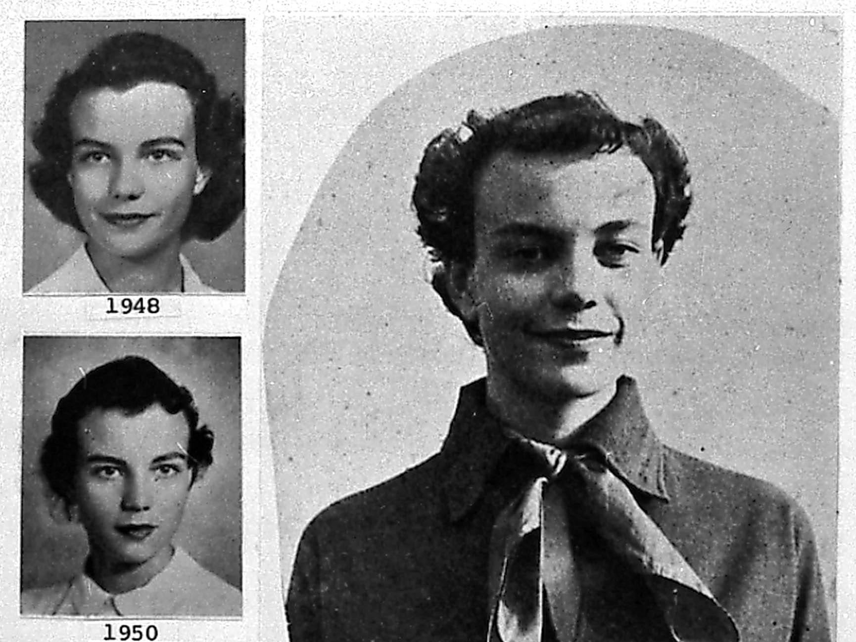 Photos of Sandra Day O'Connor during her college years.