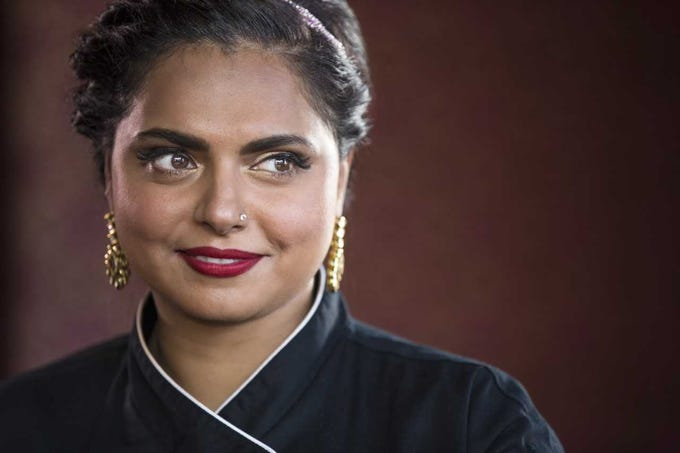 Iron Chef Challenger and Chopped judge, Maneet Chauhan, joins all-star lineup for JBF's Taste America in Phoenix.