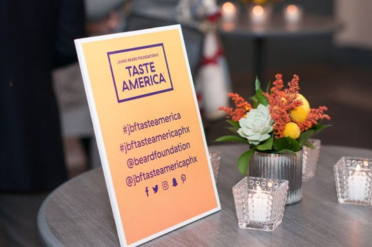Hashtags and accounts to follow for the Taste America event on social media.