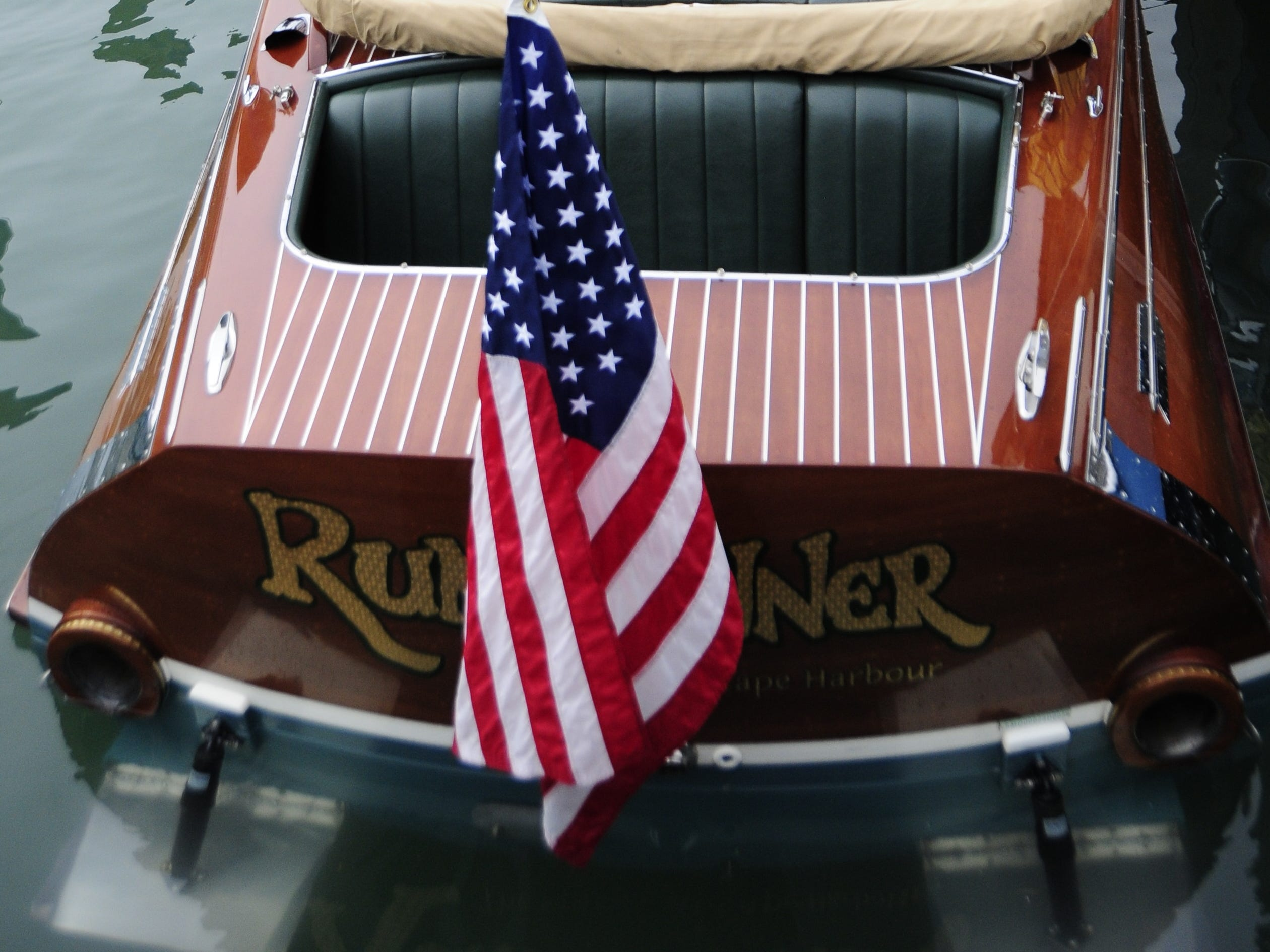 The Rumrunner came from Cape Coral, Floriday to the Antique and Classic Boat Society International Boat Show.