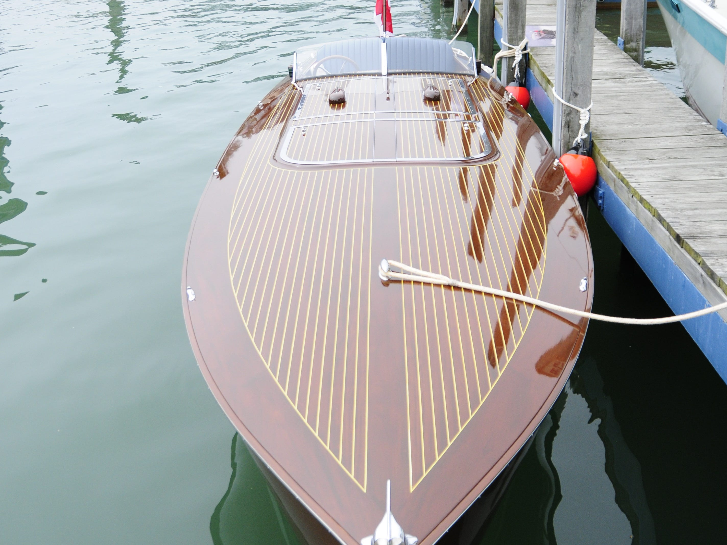 The Impulse gleams during the Antique and Classic Boat Society International Boat Show on Saturday, Sept. 15, 2018.