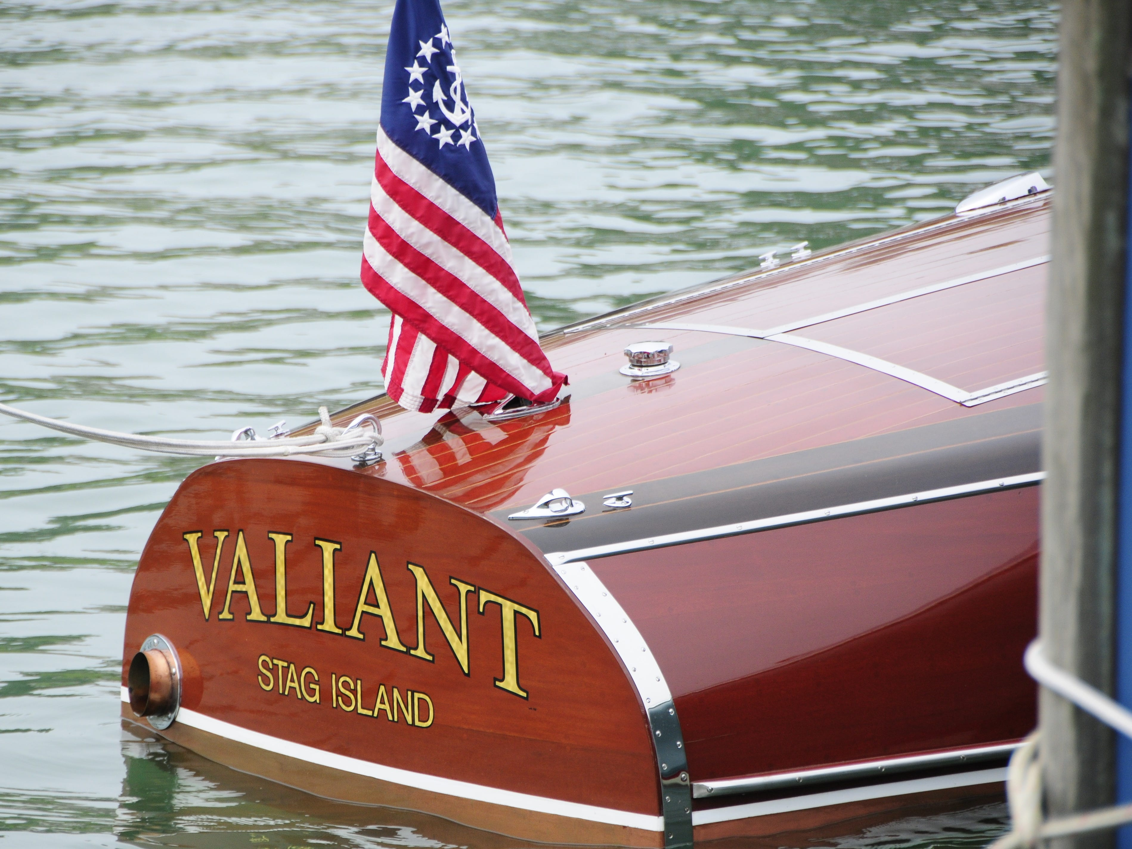 The Valiant came from Stag Island for the Antique and Classic Boat Society International Boat Show on Saturday, Sept. 15, 2018.