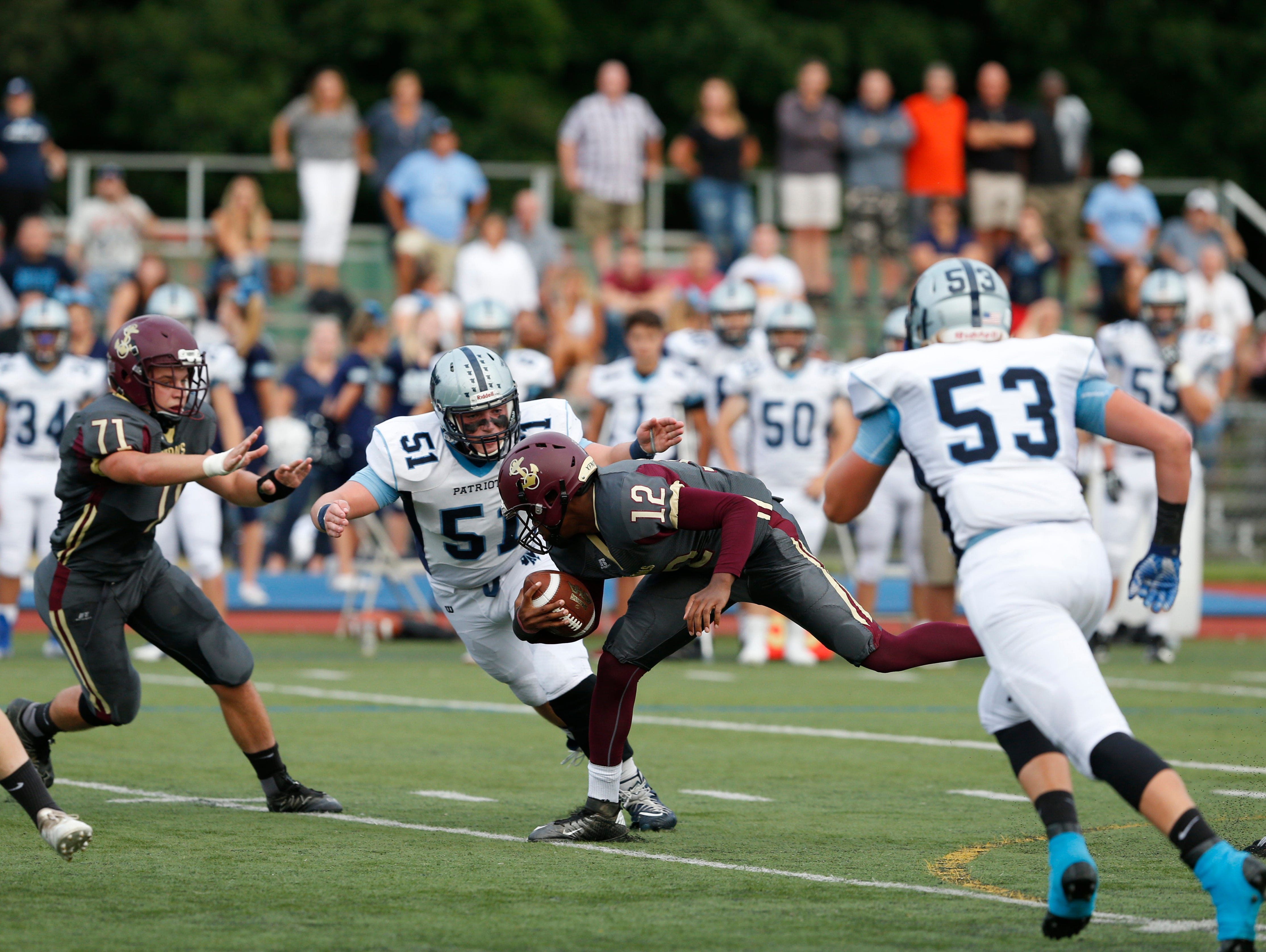 Action from Friday's game between Arlington and John Jay in Freedom Plains on Sept 14, 2018.