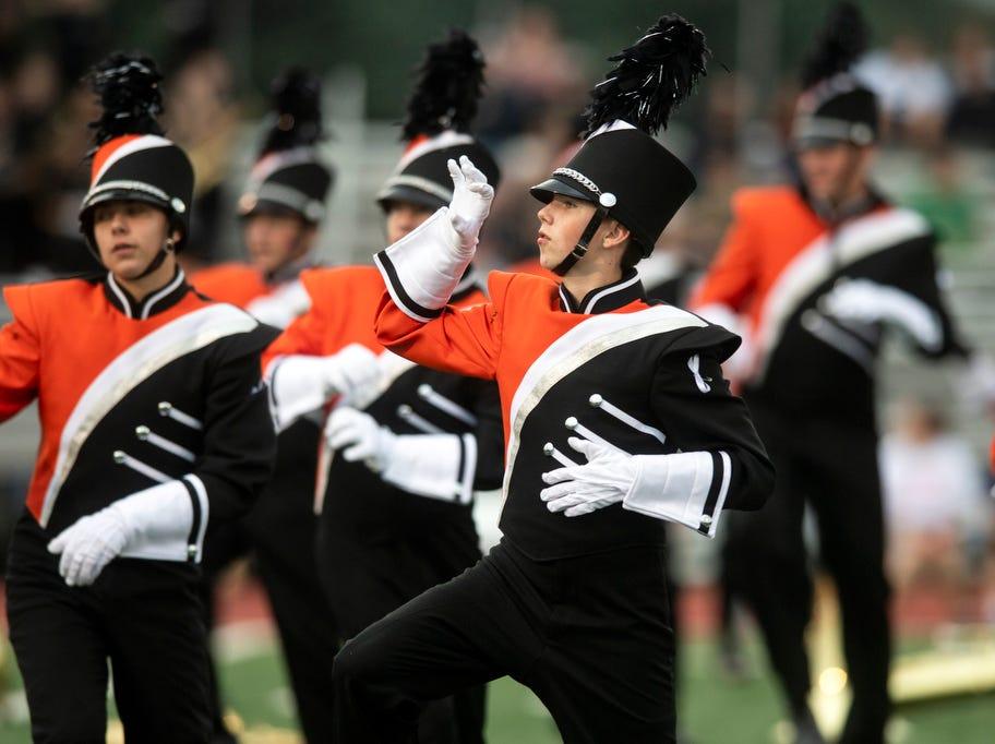 The Central York marching band performs Micheal Jackson's Thriller, prior to the game at Central York on Friday, September 14, 2018. The Red Lion Lions beat the Central York Panthers, 56-28.