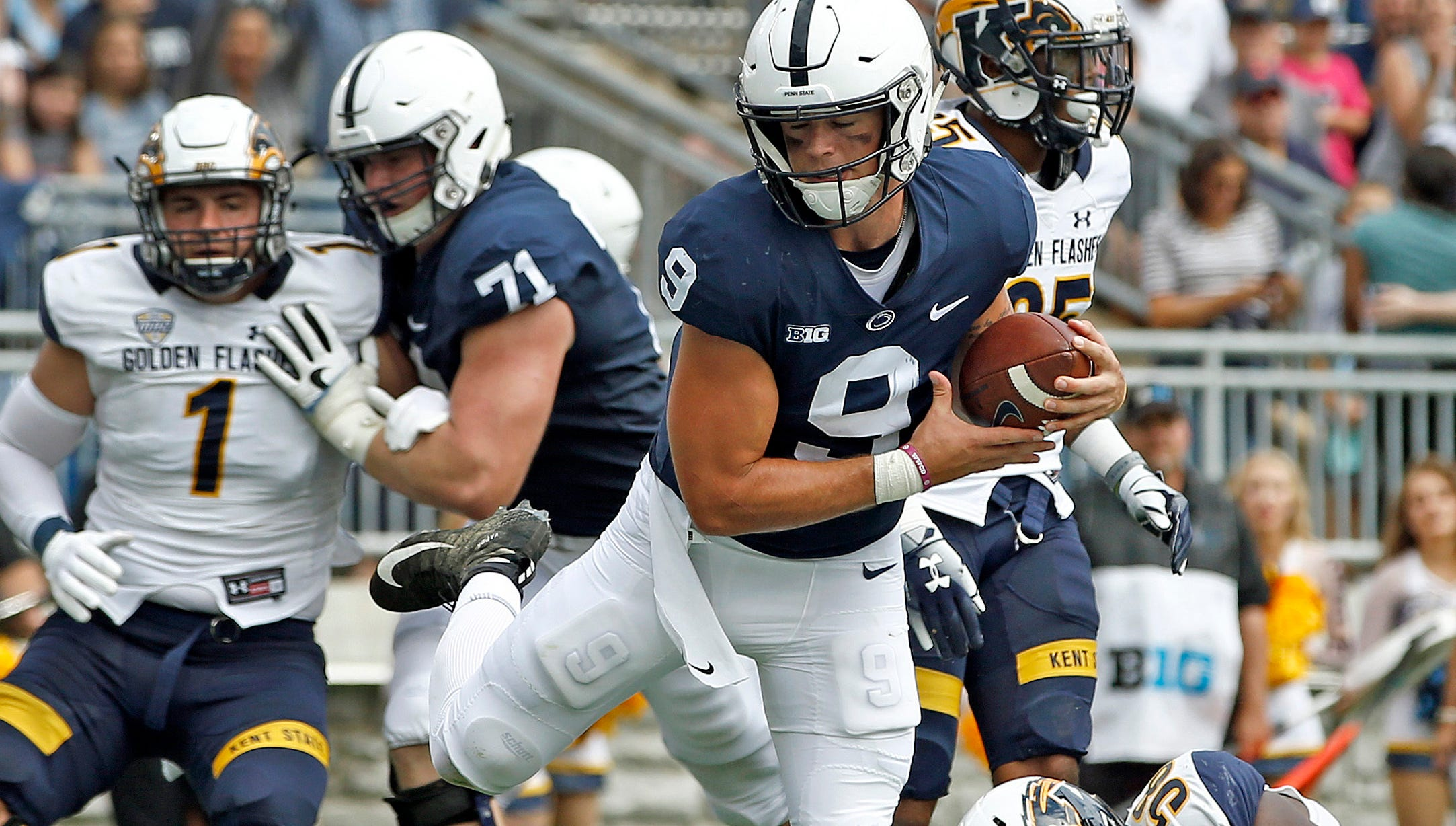 Trace McSorley prevails, leads Nittany Lions to crushing victory over Kent State