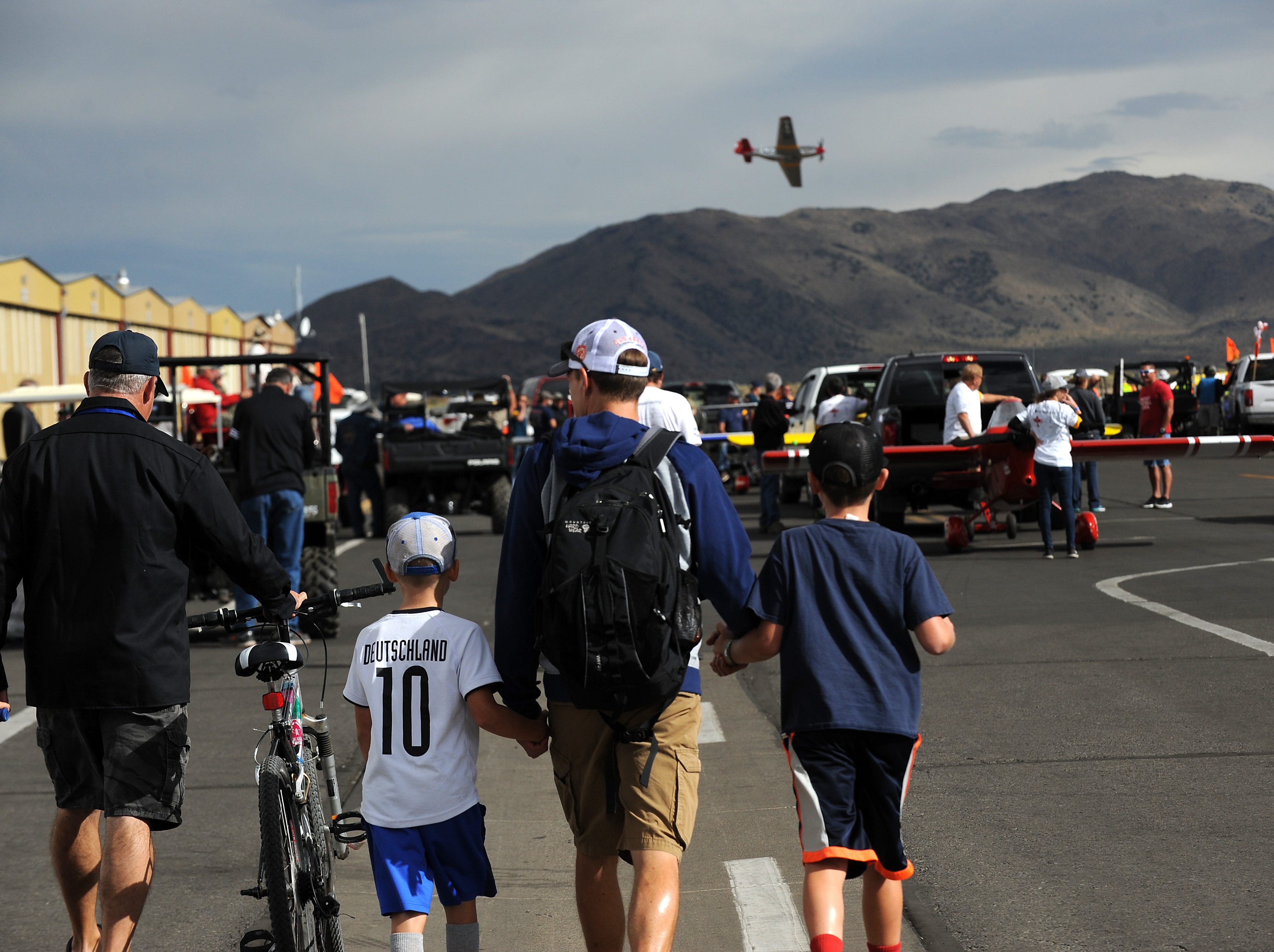 Fans attend the STIHL National Championship Air Races at Stead Airport north of Reno on Sept. 15, 2018.