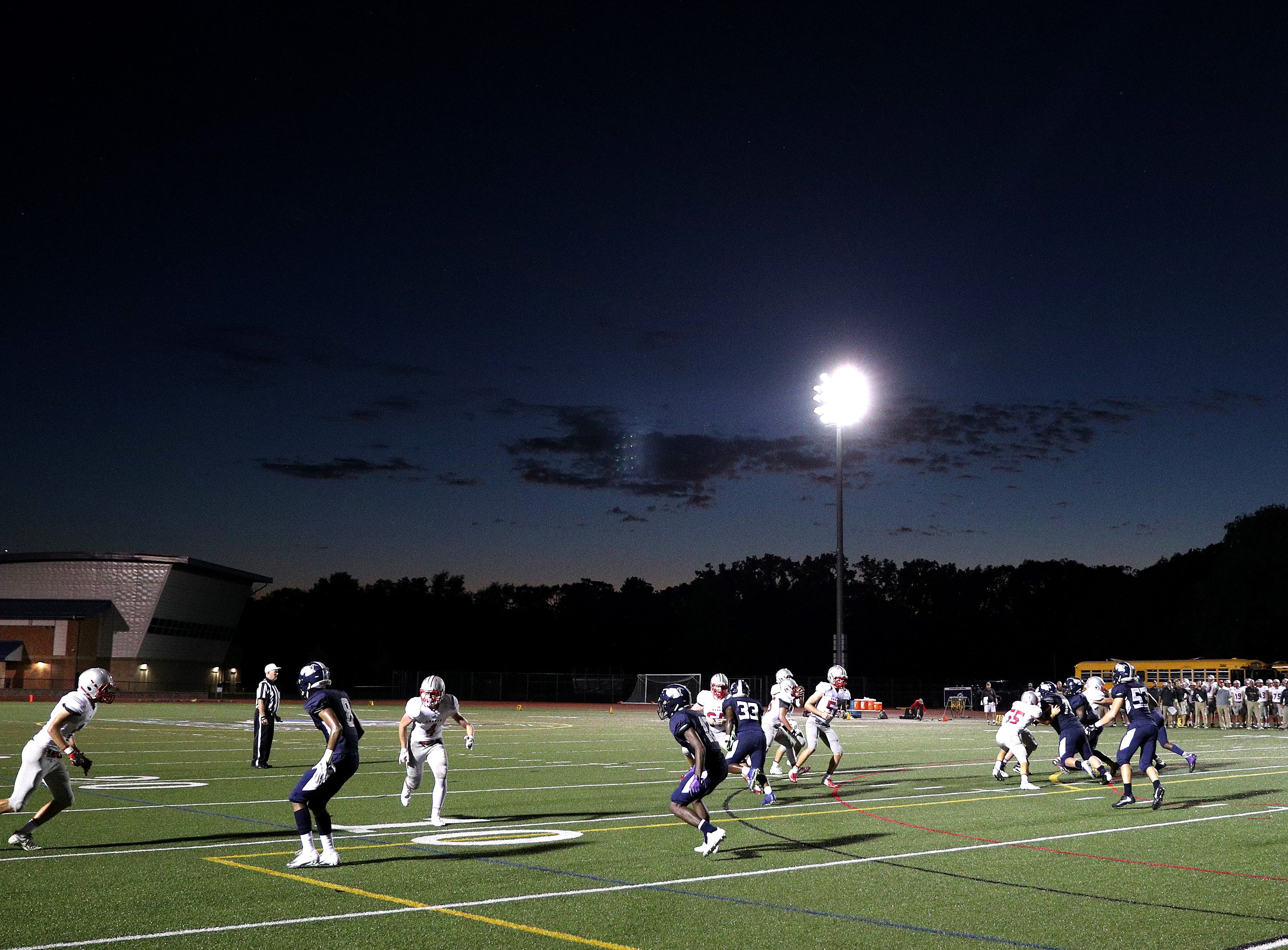 The sun sets as Canandaigua went on to beat Eastridge 31-21.