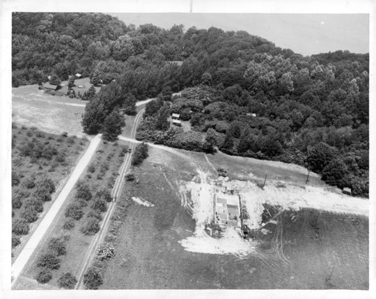 Area Girl Scouts would soon have a new pool at Camp Beechwood (area shown in the center, foreground). Year not listed.