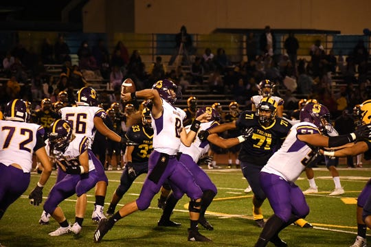 Junior quarterback Carl Richardson (8) bounced back from a shaky start to the season last week against Milpitas and will have a big test this week against a good Palma secondary.