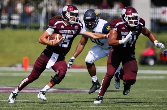 Missouri State University defeated Northern Arizona 40-8 at Plaster Stadium on Saturday, Sept. 15, 2018.
