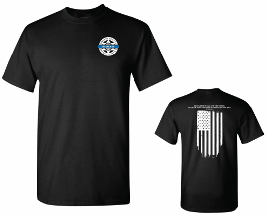 Beginning Sept. 17, 2018, memorial T-shirts will be offered for sale by the Greene County Sheriff's Office and the Battlefield Fire Protection District to honor Deputy Aaron Roberts, who died in flash flooding after responding to a service call on Sept. 7.