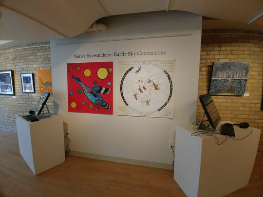 The Native Skywatchers: Earth-Sky Connections exhibit is on display now in the Paramount Center for the Arts lobby and Gallery St. Germain.