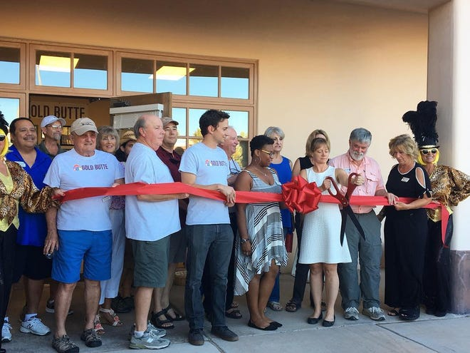 Friends of Gold Butte and Mesquite Chamber of Commerce join forces to commemorate the opening of their office location in Mesquite on Thursday, Sept. 13, 2018.