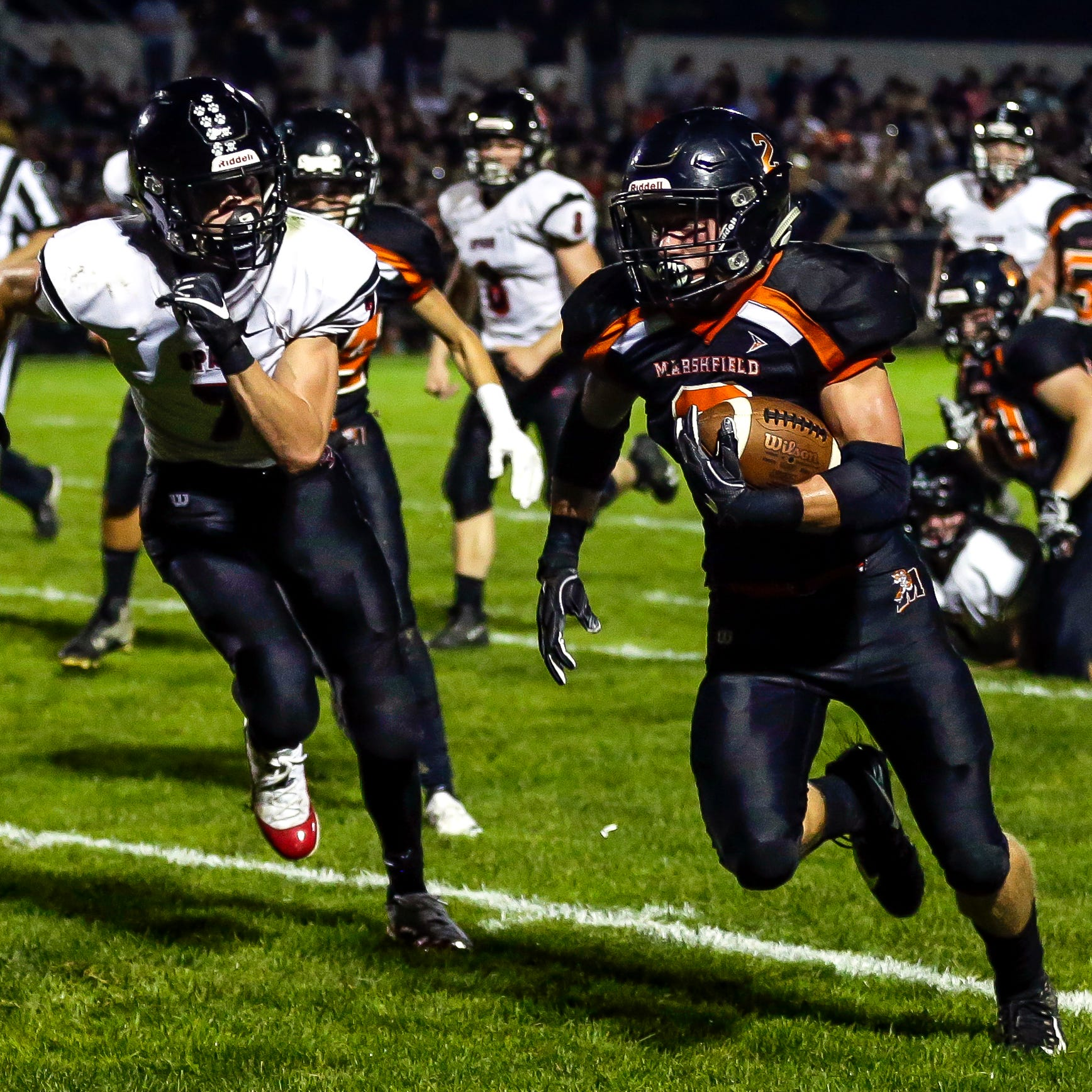 High school football: Marshfield stops SPASH just short of the end zone to stay undefeated