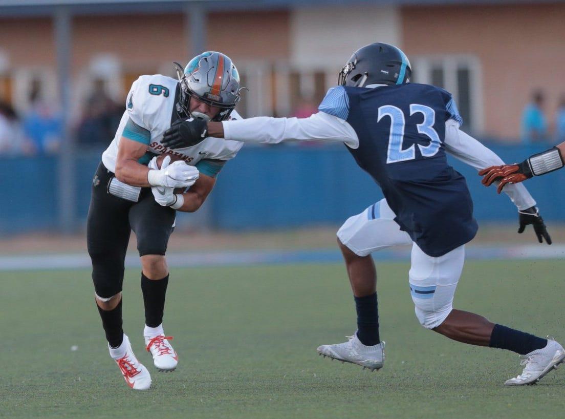 Touchdown @PebbleHHS_FB . @caleb_gerbs runs in a touchdown. #txhsfb #ephsfb