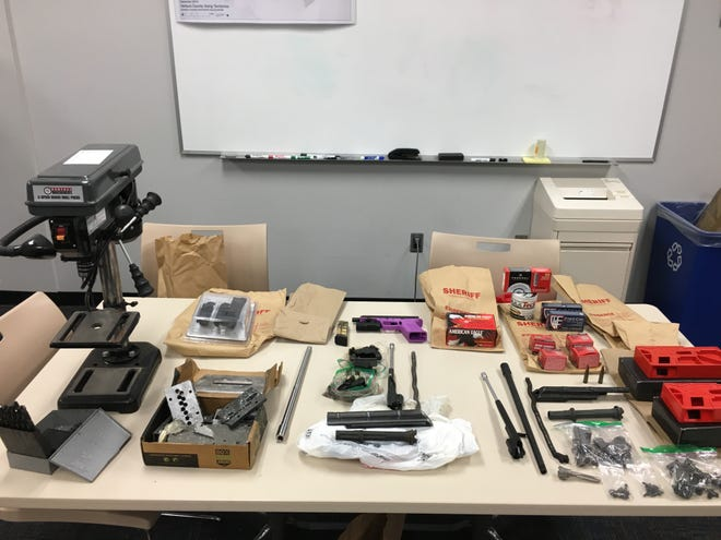 This is some of the evidence seized during a firearm search warrant in Fillmore.