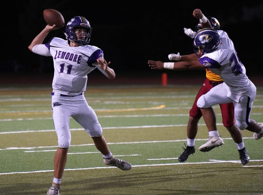 Tulare Union and Lemoore during their football game on Friday night at Bob Mathias Stadium in Tulare.Friday, September 14, 2018.