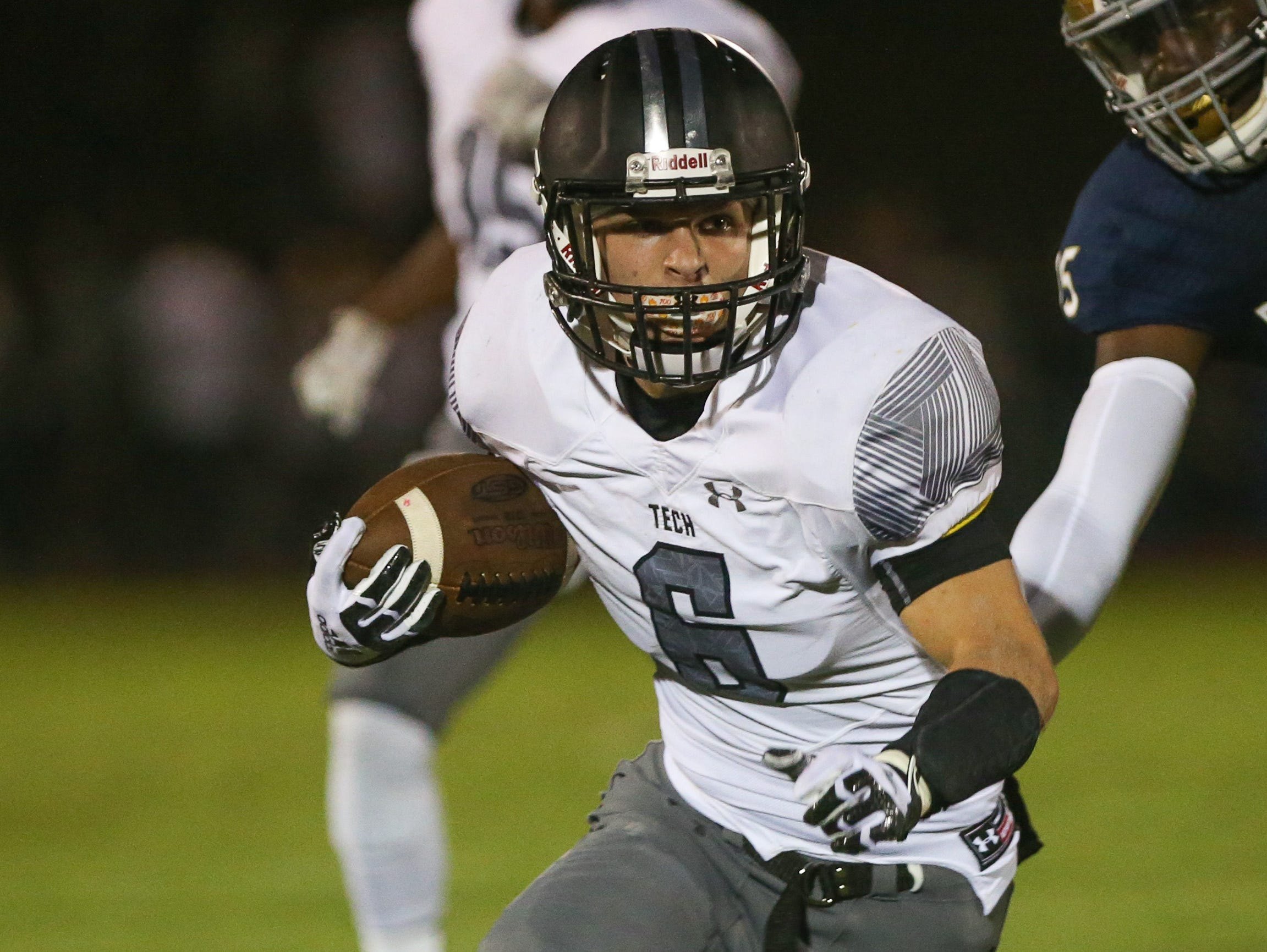 Sussex Tech's Michael Norsworthy carries the ball in the fourth quarter.