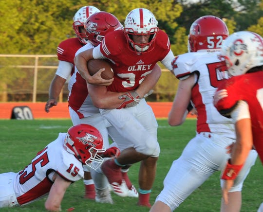 Olney is going to depend on experienced offensive linemen like Dillon Sandlin this season.