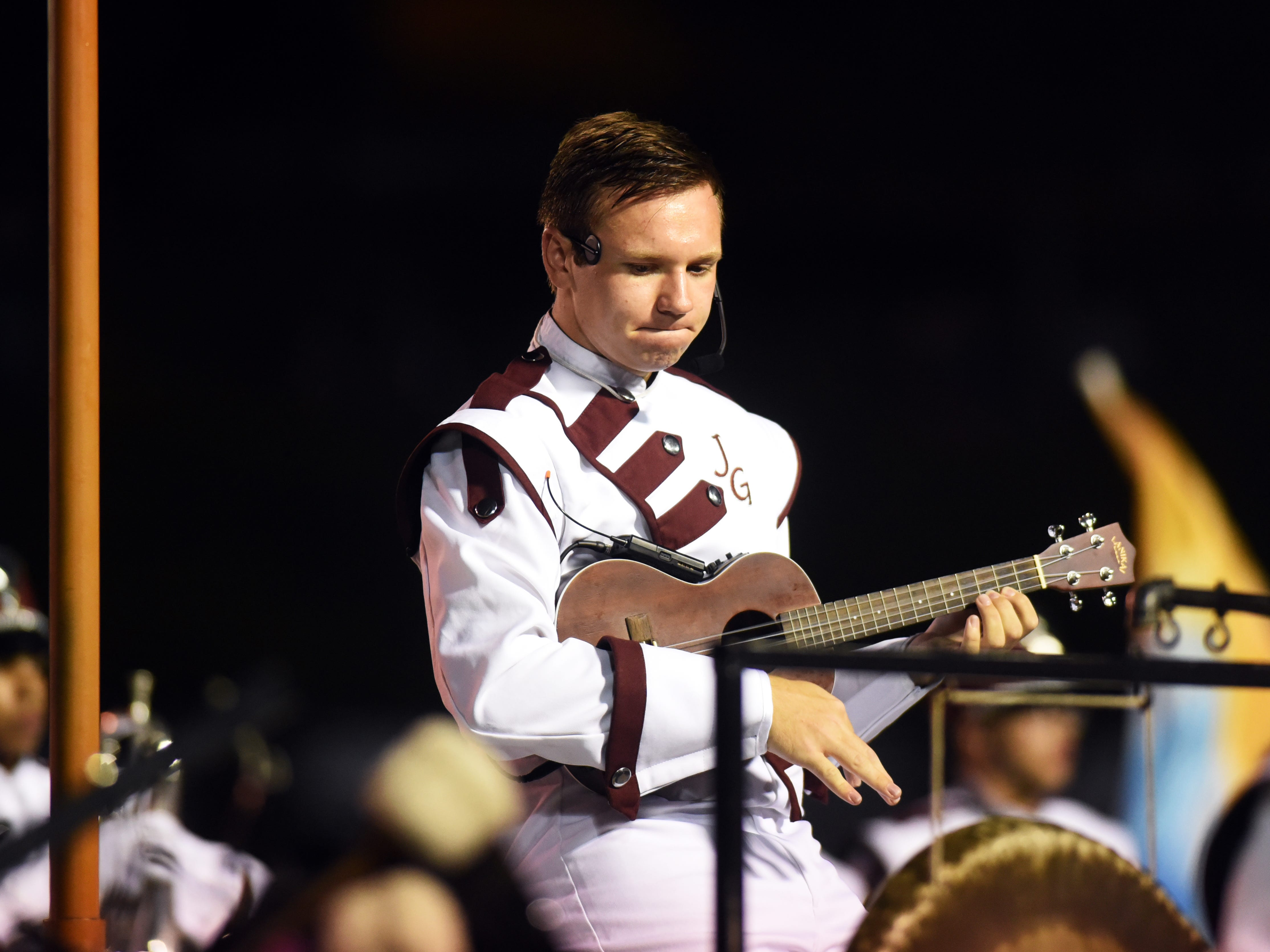 John Glenn's band performs at halftime against Philo.