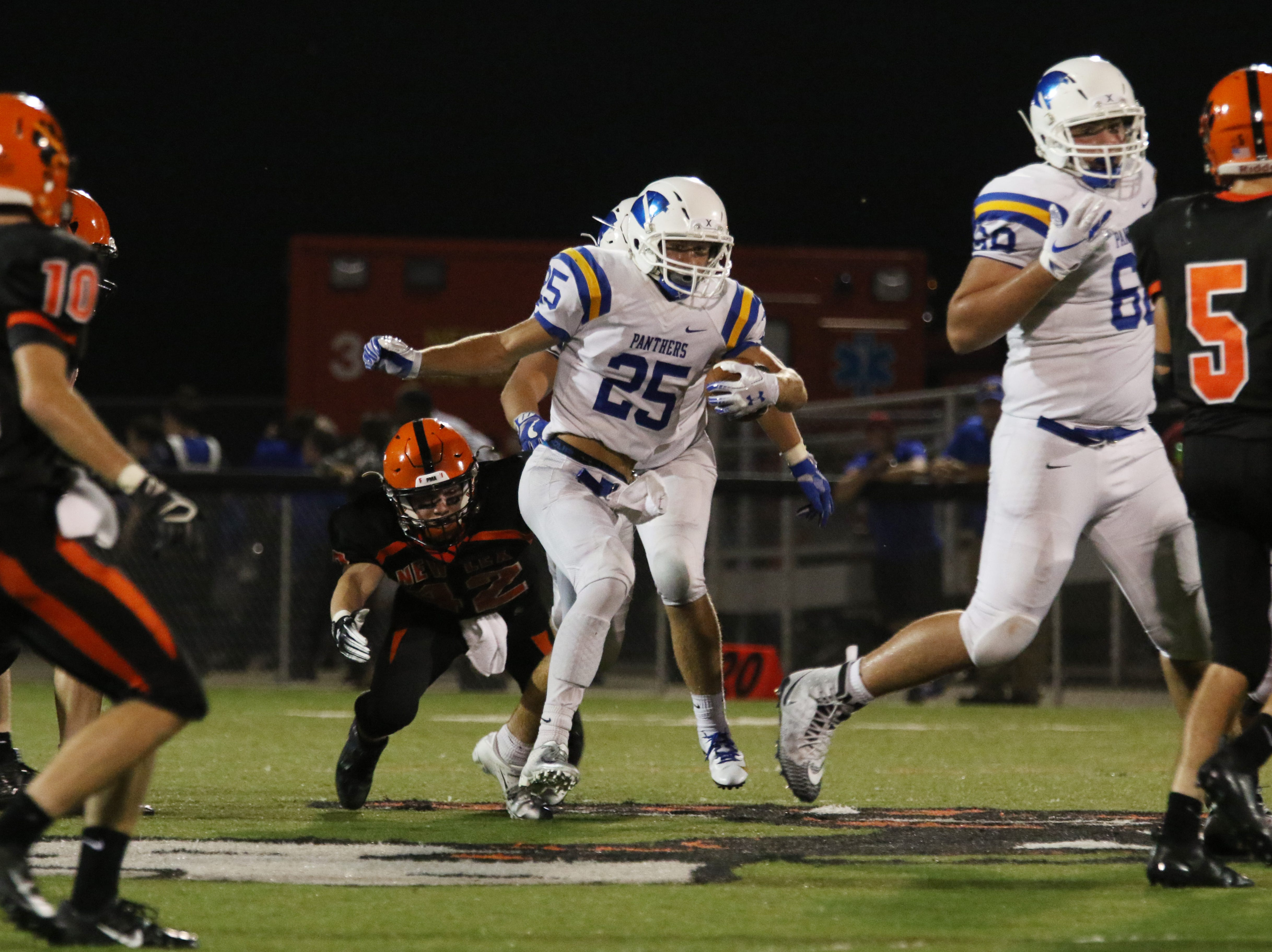 Maysville won the annual battle of the Panthers for the 11th consecutive year, beating New Lexington 20-8.
