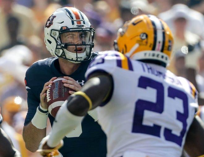 Auburn quarterback Jarrett Stidham against LSU in 2017.