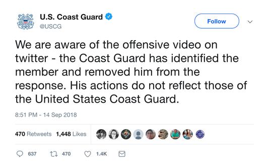 Coast Guard Tweet