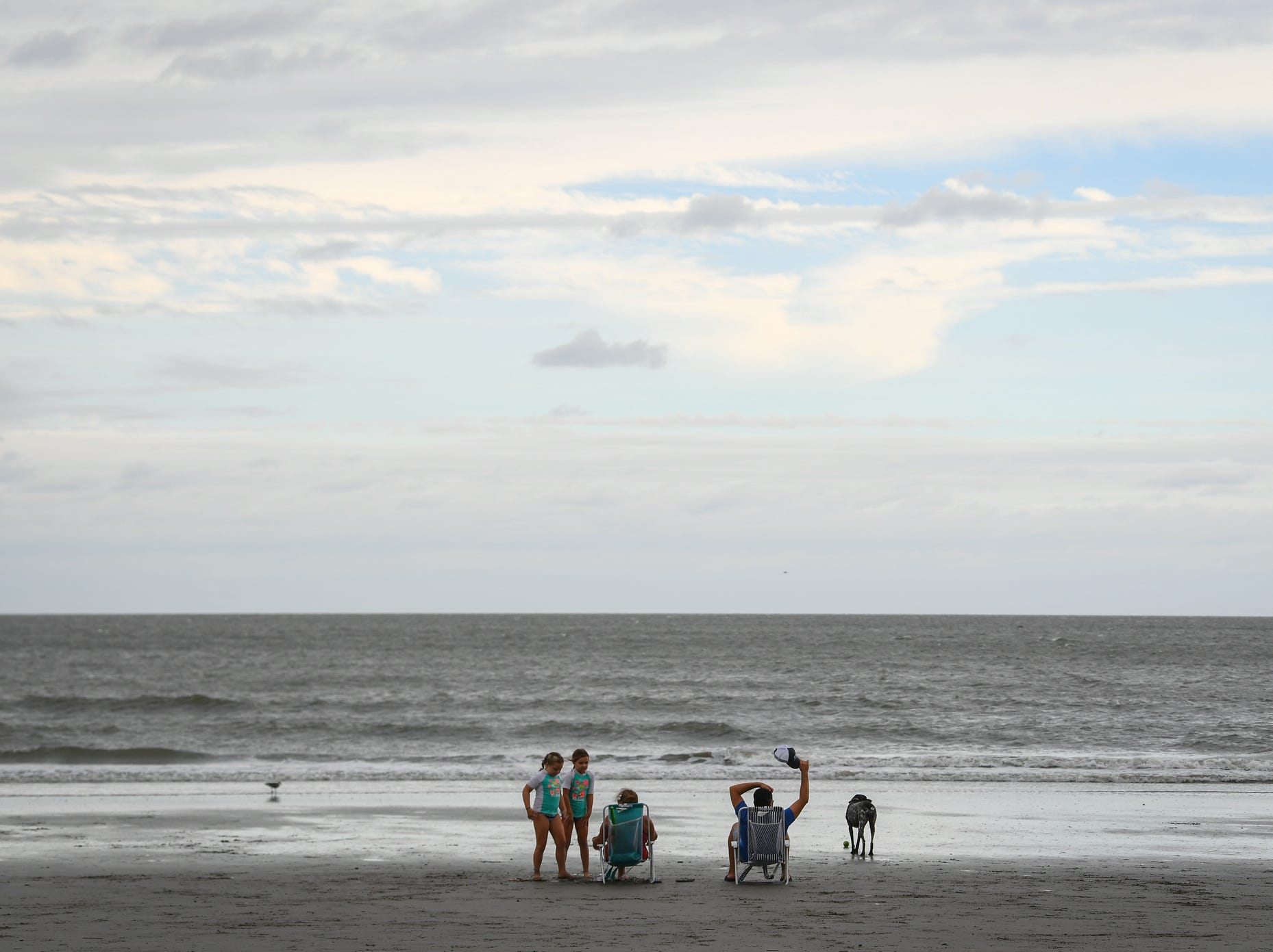 Families enjoy Isle of Palms Beach Friday afternoon prior to the arrival of Hurricane Florence.
