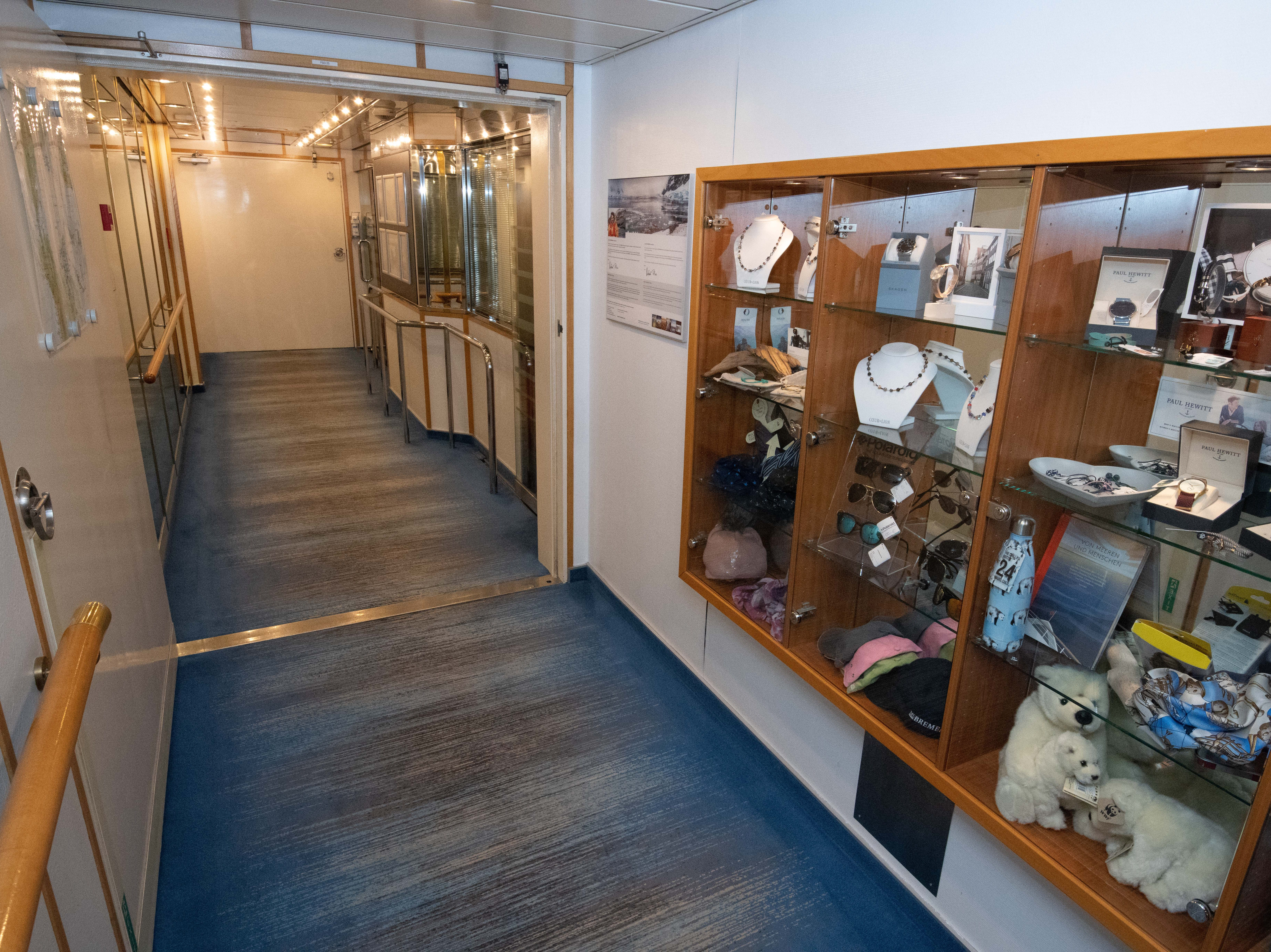A small boutique is located on Deck 4 near the main restaurant.