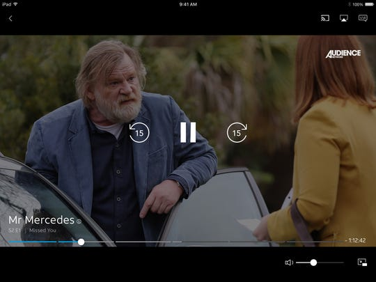 Brendan Gleeson as Bill Hodges in 'Mr. Mercedes' on the Audience Networks, shown on DirecTV Now.