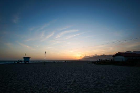 Beach Dusk Lifeguard Tower 92432