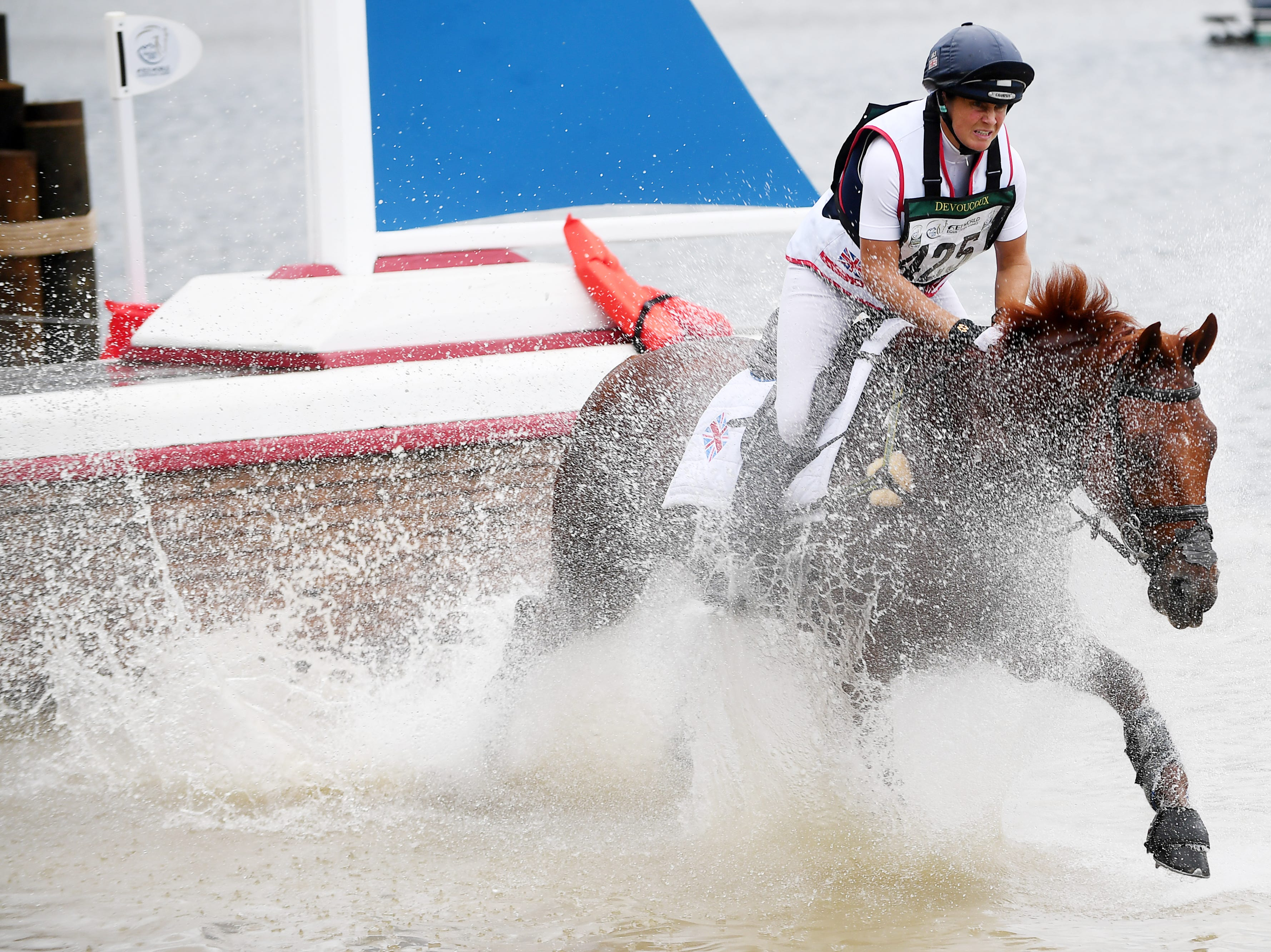 Scenes from the cross country event on day four of the World Equestrian Games in Tryon Sept. 15, 2018.