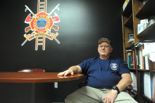Black Mountain Fire Department Chief Steve Jones, is the emergency management coordinator for the Emergency Operation Center, which was set up to help coordinate the town's response to Tropical Depression Florence.