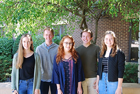 Cincinnati Hills Christian Academy has five seniors who were named National Merit semifinalists. From left: Abby Jutt, Chanse Ashman, Hannah Odom, Douglas Hansford and Sydney Sauer.