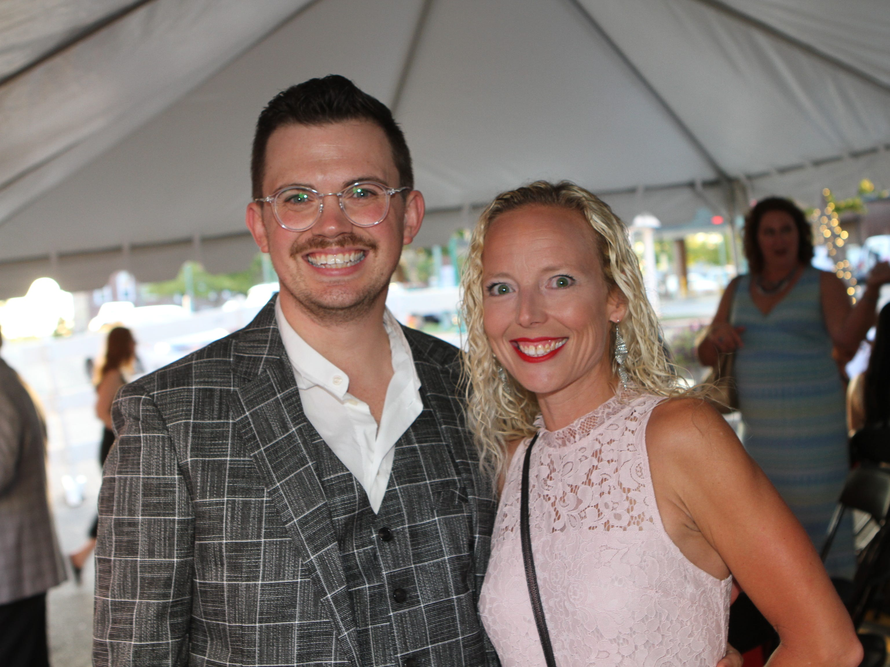 Ryan Bowie and Stacey Streetman at the 36th Annual Roxy Gala on Saturday, Sept. 15, 2018.