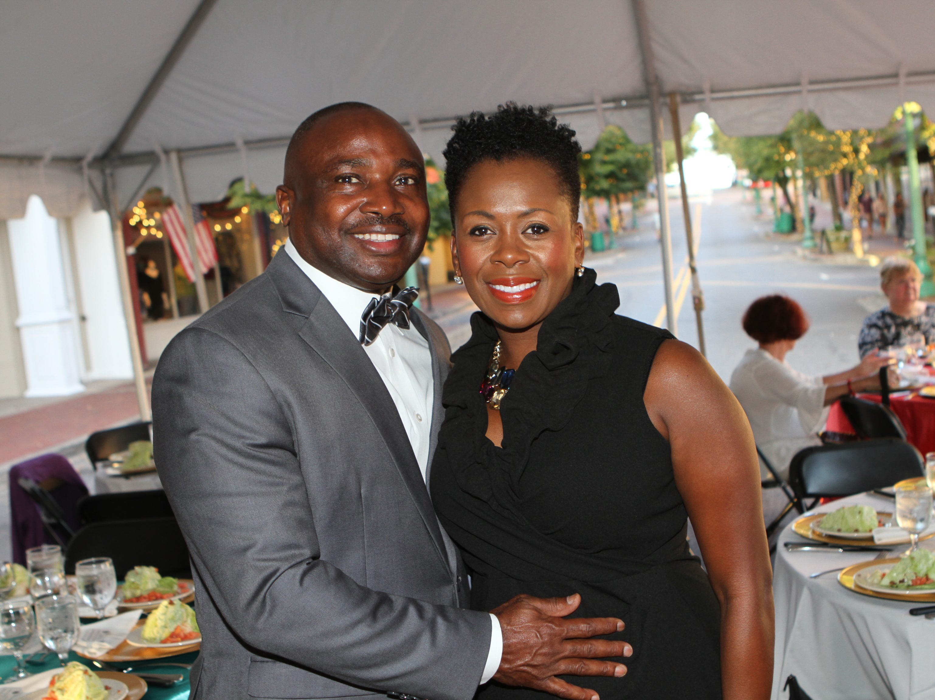 Oneal and Kimberly Wiggins at the 36th Annual Roxy Gala on Saturday, Sept. 15, 2018.