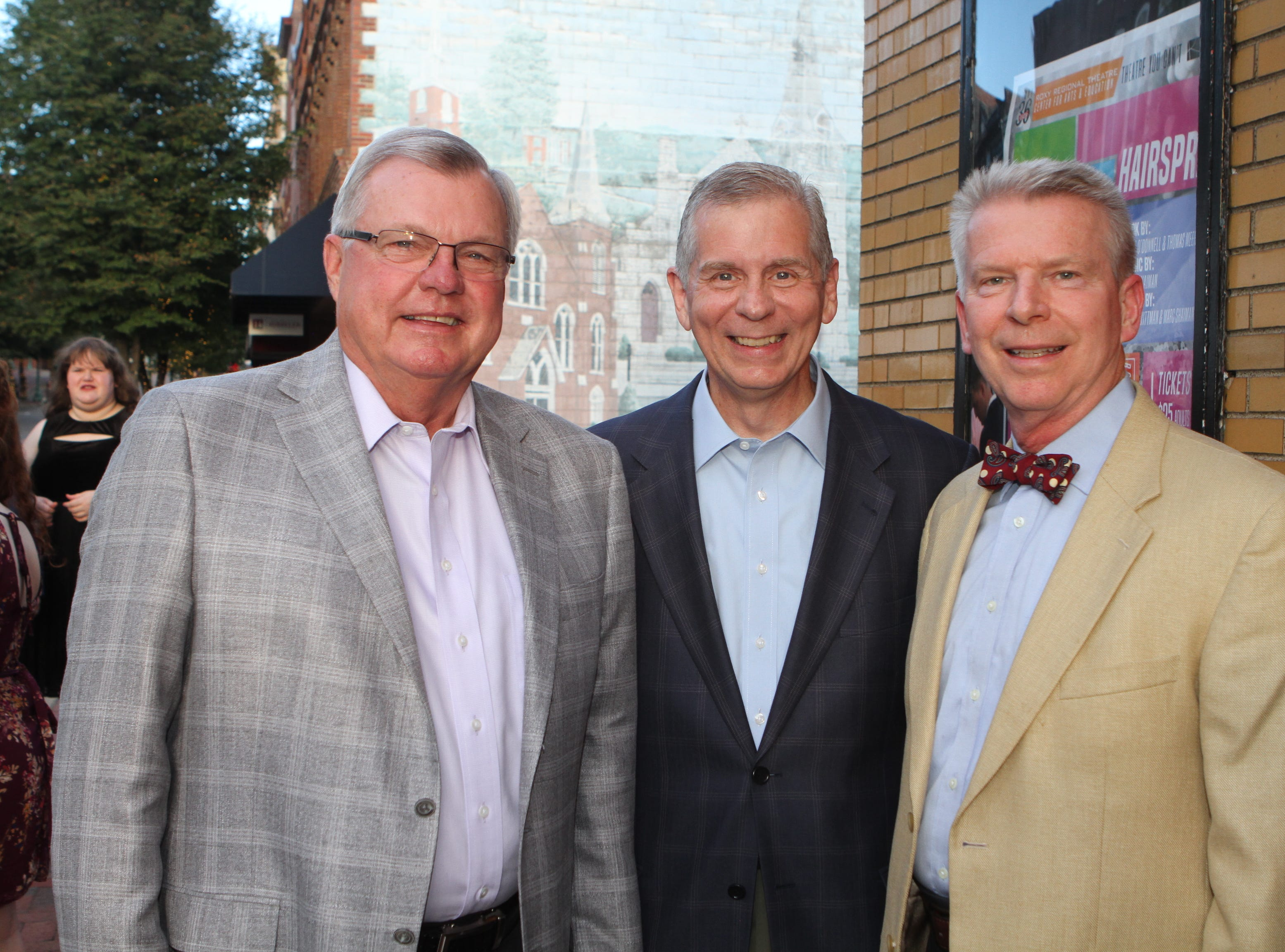 Curtis Johnson, Joe Pitts and Dr. Bill Wall  at the 36th Annual Roxy Gala on Saturday, Sept. 15, 2018.