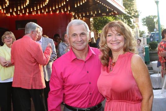 Jim Knoll And Jeanine Johnson Having Fun At Saturdays Roxy Gala