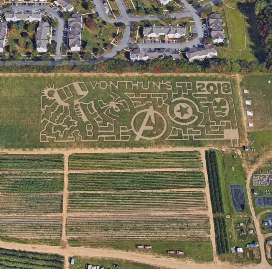 Von Thun's Country Farm Market reveals 'Marvelous Superhero' maze theme