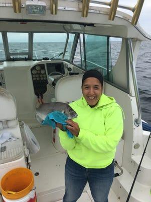 Alicia Morea With Fish