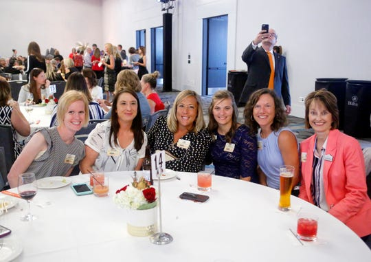 Employees with Suncrest Home Health and Hospice during the Top Workplaces awards Sept. 13, 2018.